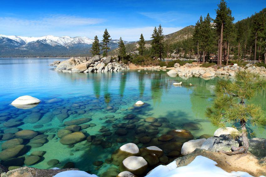 Lac Tahoe Etats Unis Un Lac Entre La Californie Et Le Nevada