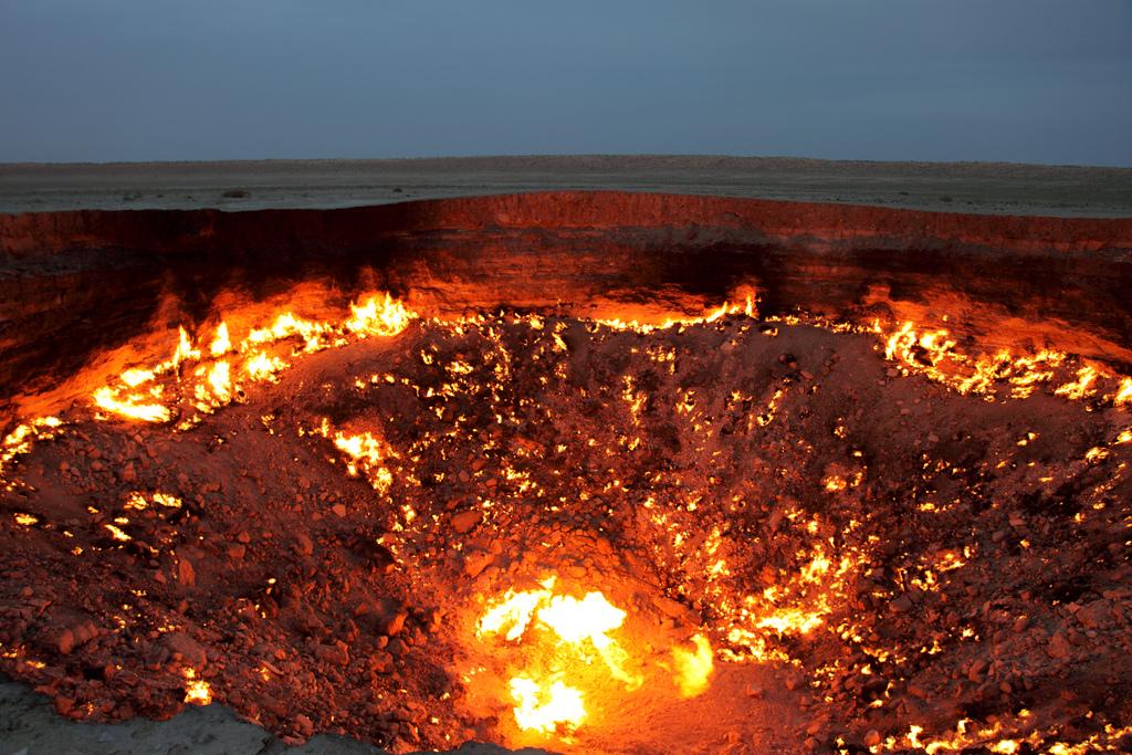 Darvaza la porte de l enfer - Turkmenistan porte de l enfer ...