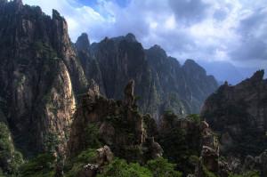 Huangshan : les pics rocheux aux effets lumineux