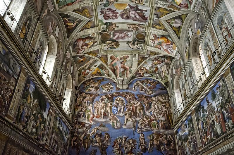 la chapelle sixtine plafond chef d œuvre de michel ange