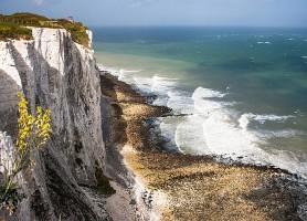 Falaises blanches de Douvres : les falaises de craie !