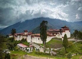 Dzong de Trongsa : une imposante bâtisse à 2 200 m d'altitude
