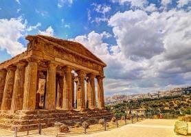 Zone archéologique d'Agrigente: un panorama de temples