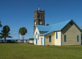 Levuka: une ville sur l'île volcanique tropicale luxuriante