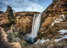 Skogafoss: la plus spectaculaire chute d'eau d'Islande