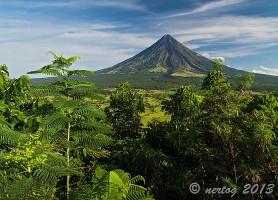 Mayon: un magnifique volcan conique
