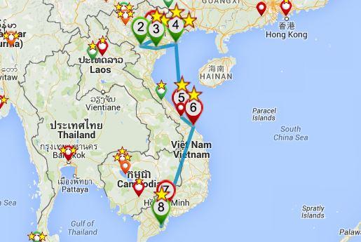Itinéraire conseillé pour un premier voyage au Vietnam